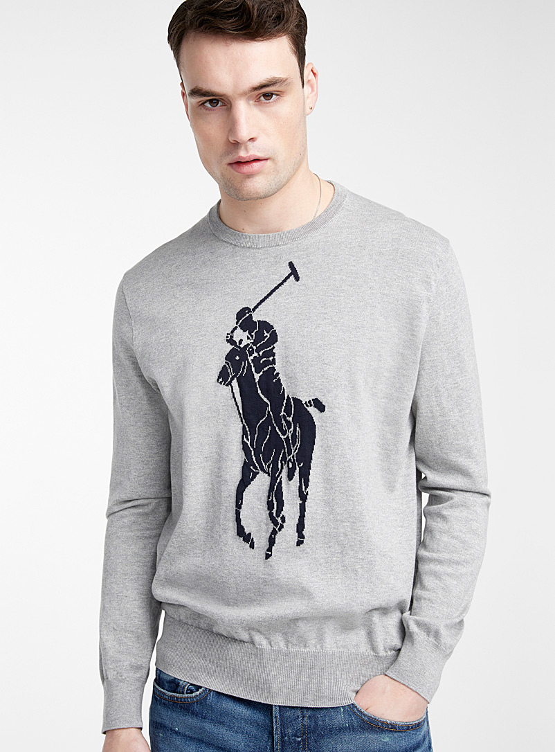 Polo Ralph Lauren Grey Polo player sweater for men