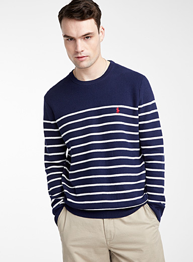 Piqué knit nautical sweater