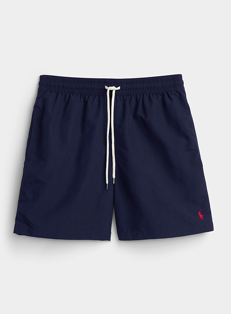 Polo Ralph Lauren Marine Blue Traveler solid nylon swim short for men