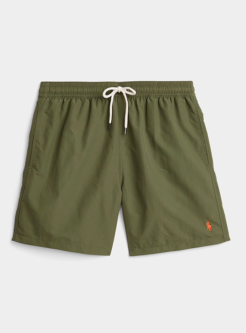 Polo Ralph Lauren Mossy Green Traveler khaki nylon swim short for men