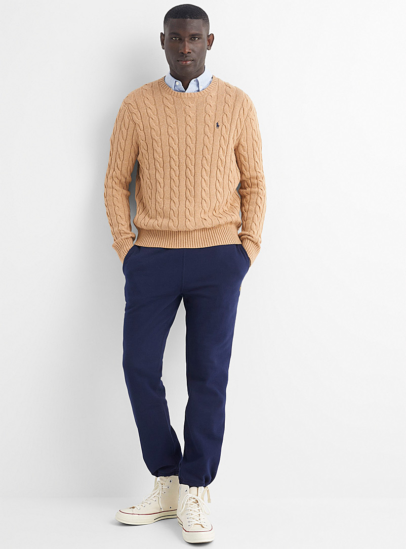 Polo Ralph Lauren Light Brown Nautical cable sweater for men