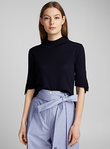 Accordion-pleat sweater