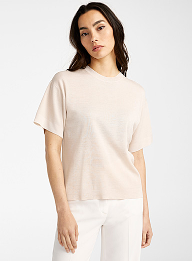 Loose short-sleeve sweater
