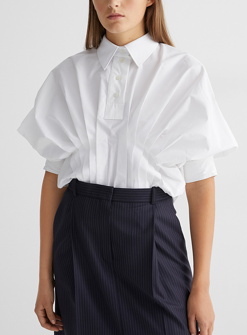 Accordion pleat blouse