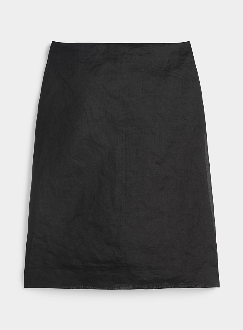 Nina Ricci Black Satiny cotton skirt for women
