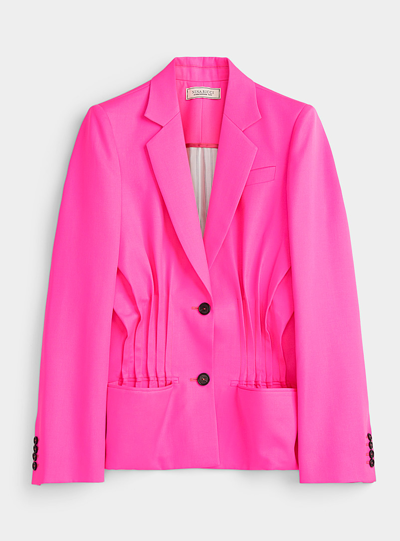 Nina Ricci Cherry Red Neon pink wool jacket for women