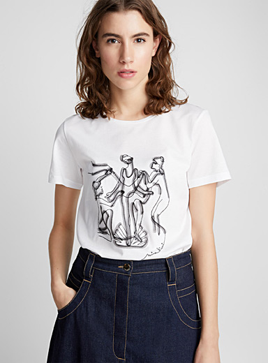 Embroidered silhouette T-shirt