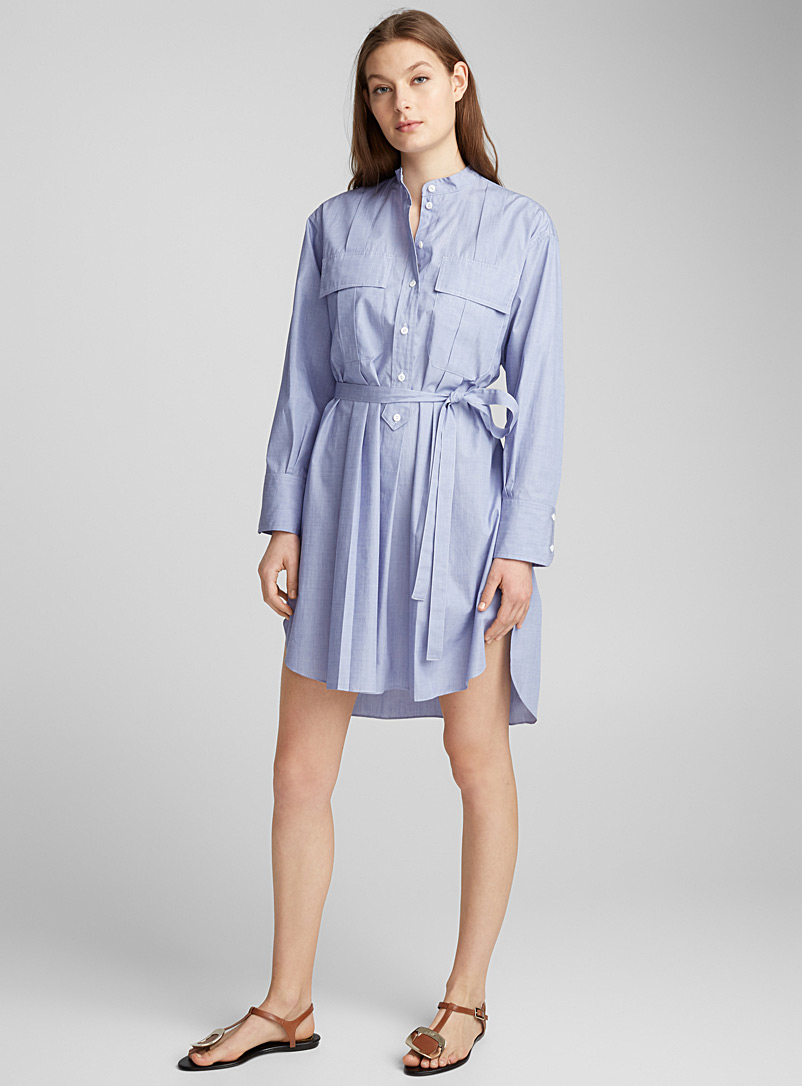 chambray-shirtdress