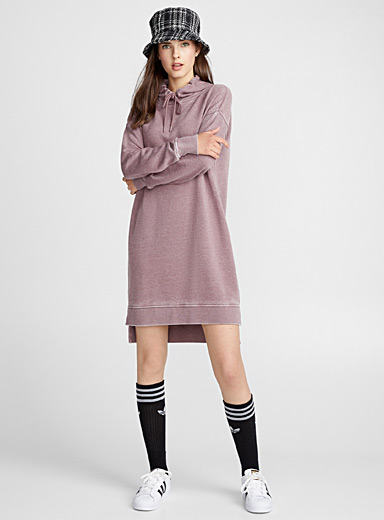 Asymmetrical hoodie dress