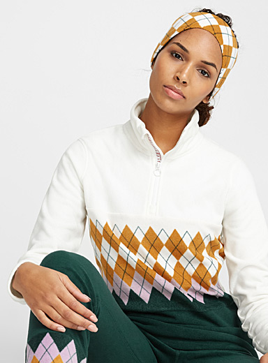 Retro fleece half-zip top