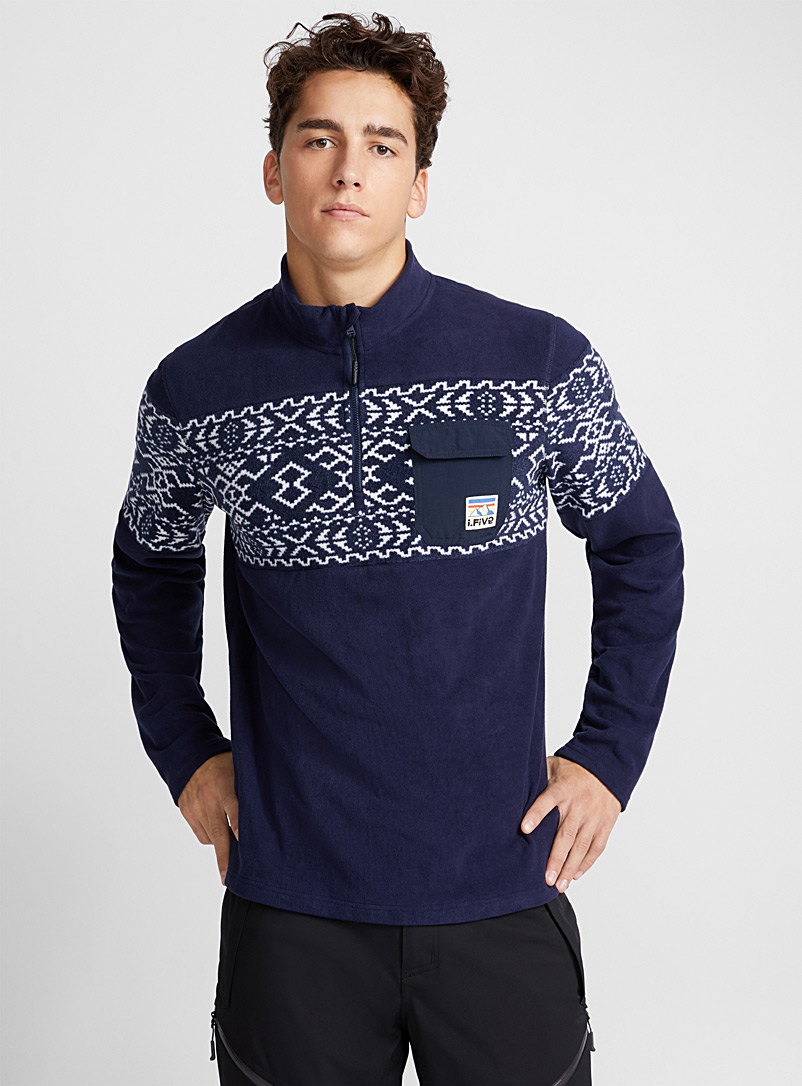 printed-polar-fleece-half-zip-top