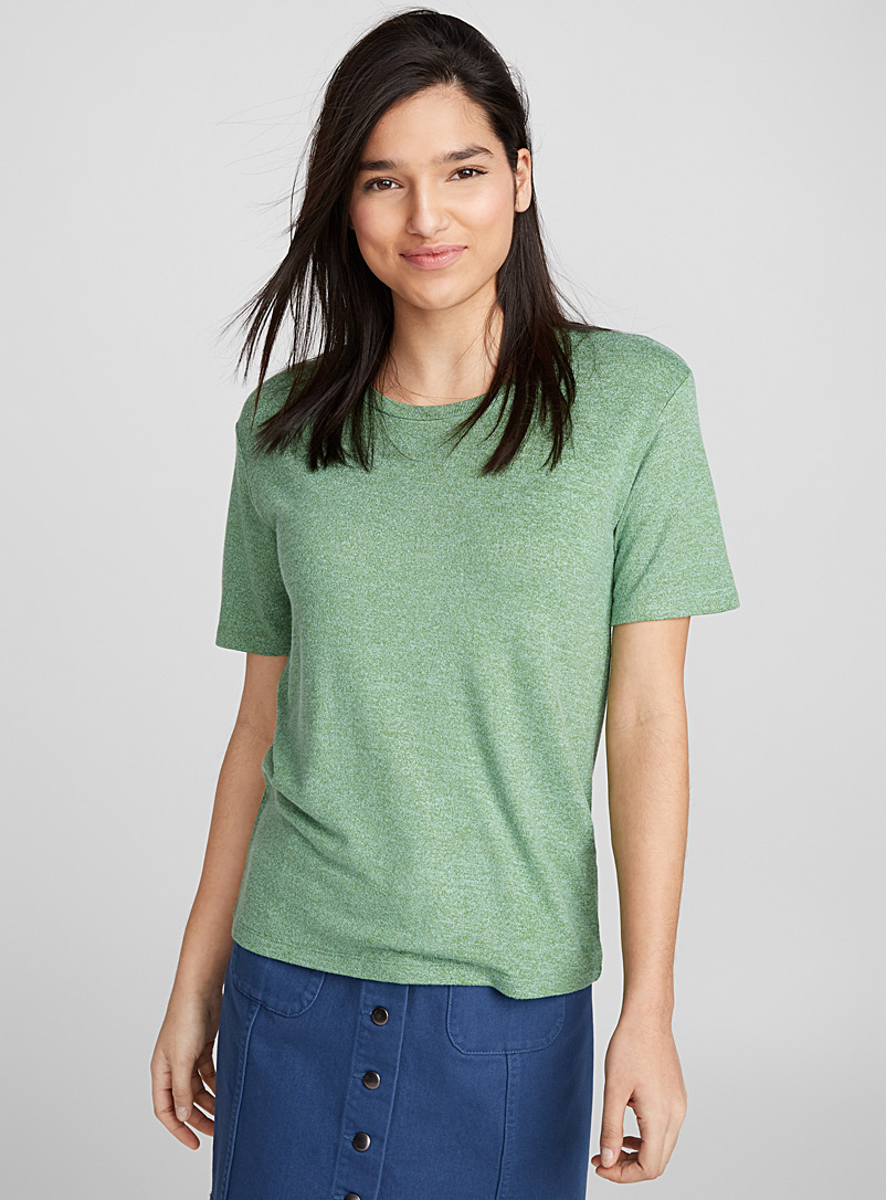 Loose rayon tee - Short Sleeves & ¾ Sleeves - Bottle Green