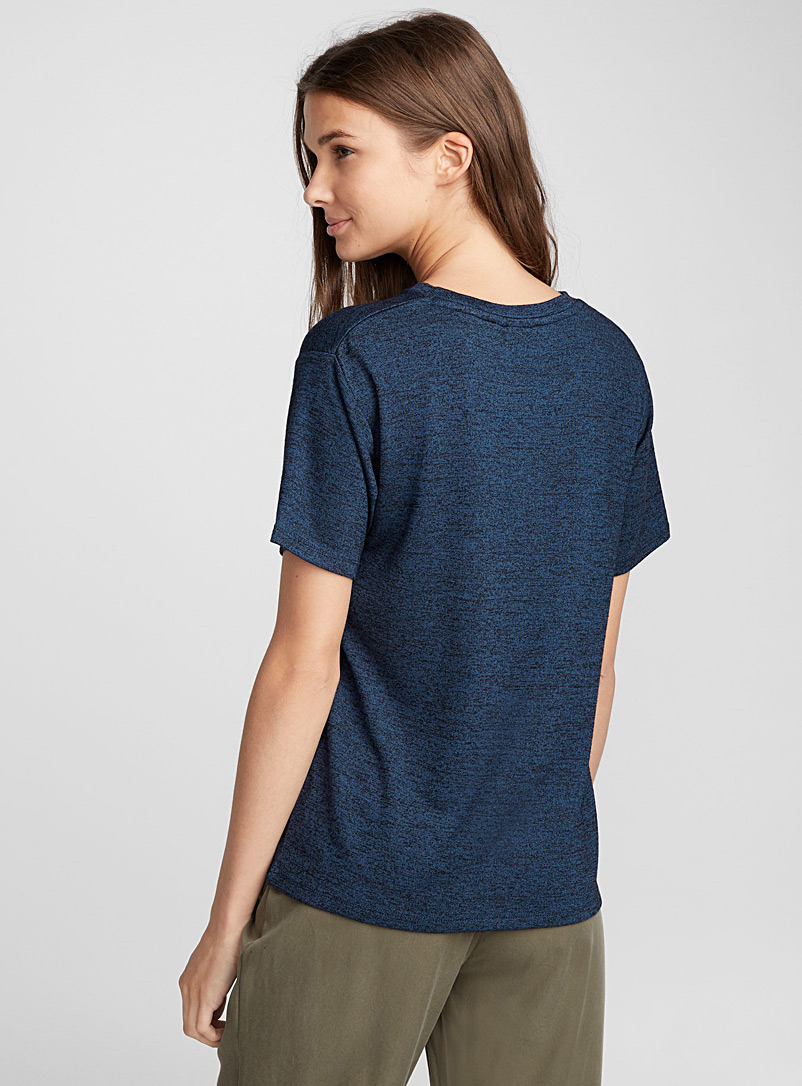 Loose rayon tee - Basic - Blue