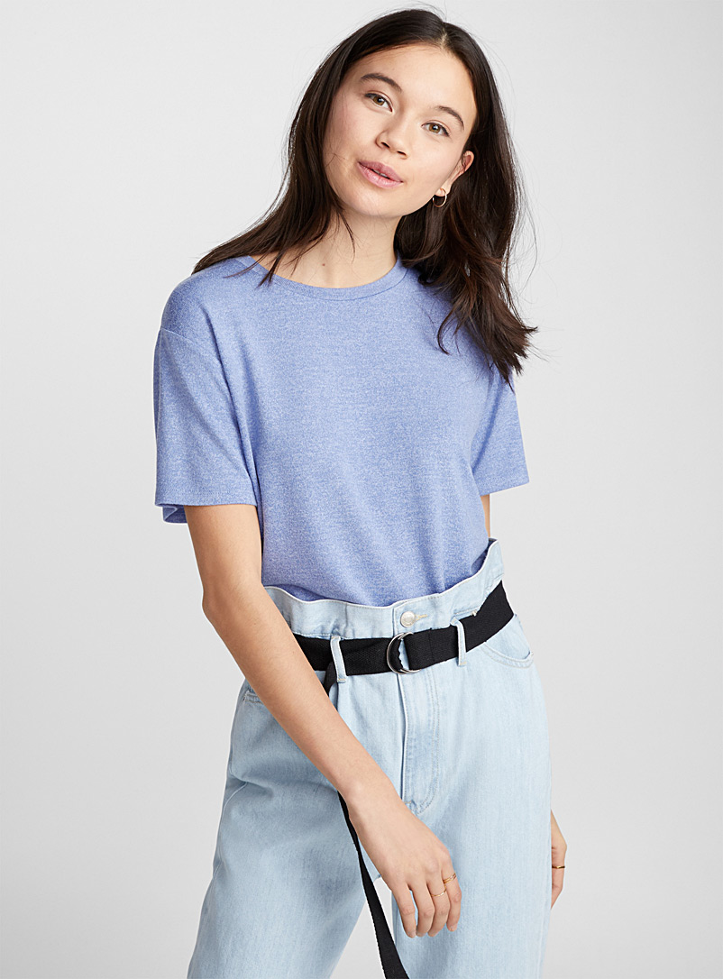 Loose rayon tee - Short Sleeves & ¾ Sleeves - Slate Blue