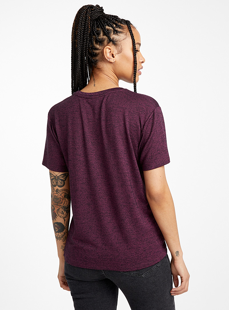 Loose rayon tee - Basic - Dark Crimson