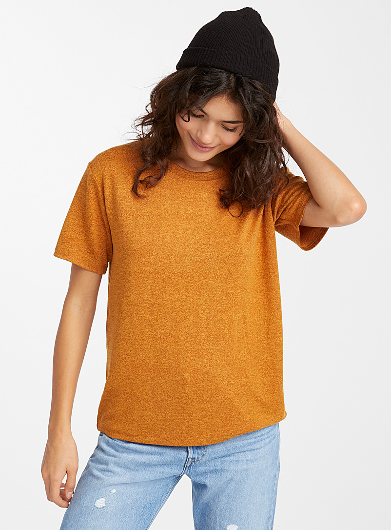 Loose rayon tee - Basic - Dark Yellow