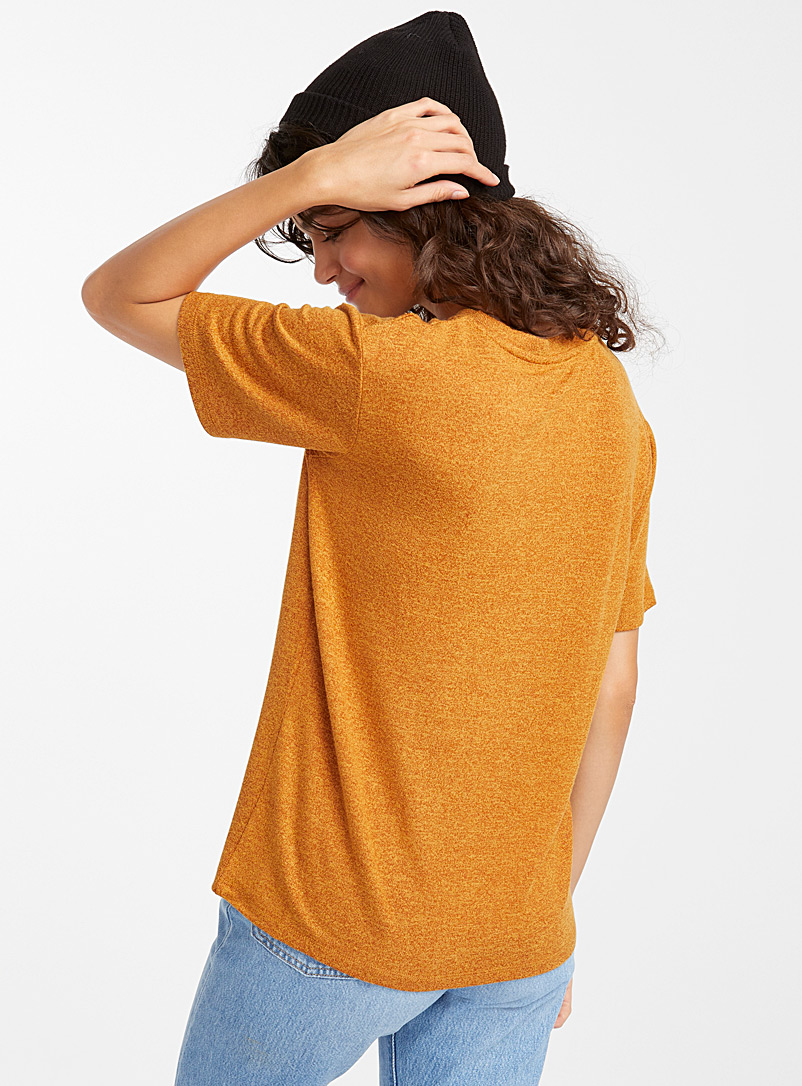 Loose rayon tee - Short Sleeves & ¾ Sleeves - Dark Yellow