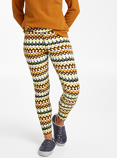 High-waist fleece legging