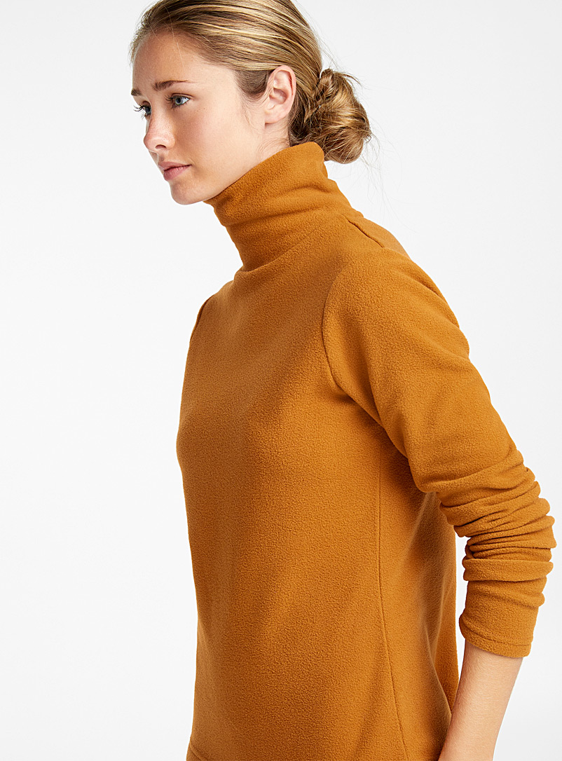 Recycled polar fleece turtleneck - Sweatshirts - Fawn