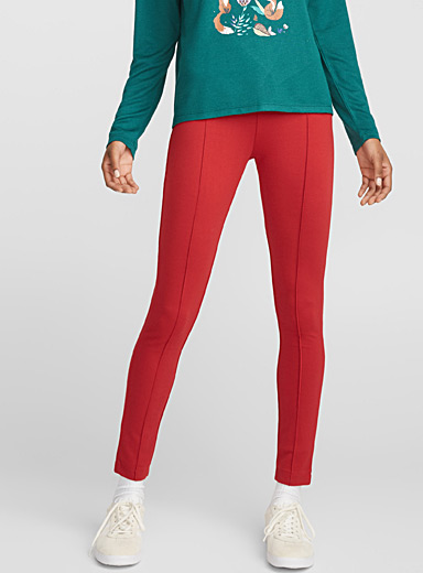 Accent pleat legging