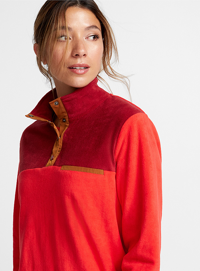 Colour block high neck - Baselayers - Red