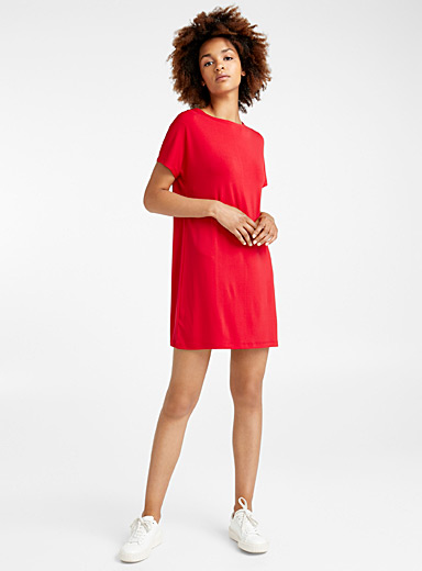Loose stretch crepe dress