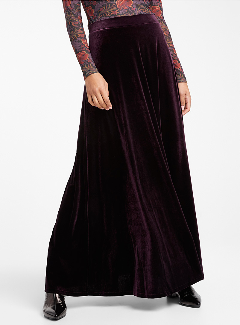Rich velvet maxi skirt - Long - Dark Crimson
