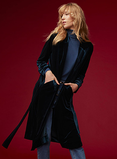 Velvety robe jacket