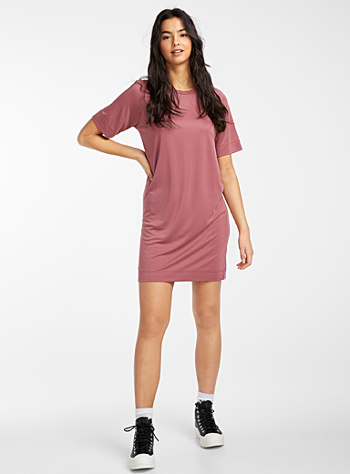 Twik Red Loose basic modal dress for women