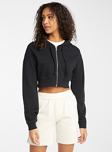 Organic cotton ultra cropped hoodie
