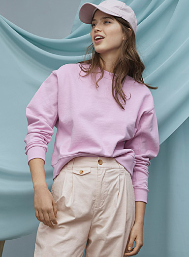Basic boxy organic cotton sweatshirt