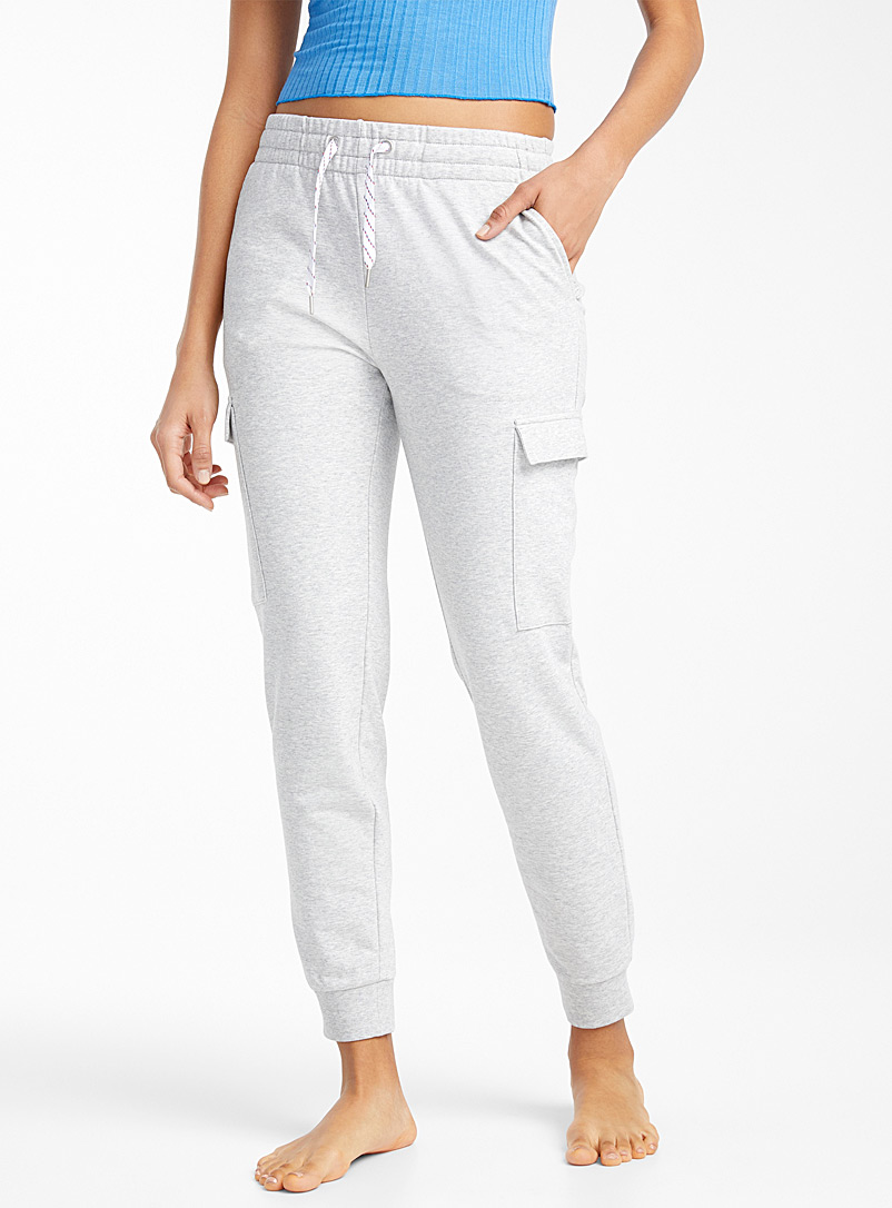 Miiyu x Twik Grey Utility lounge joggers for women