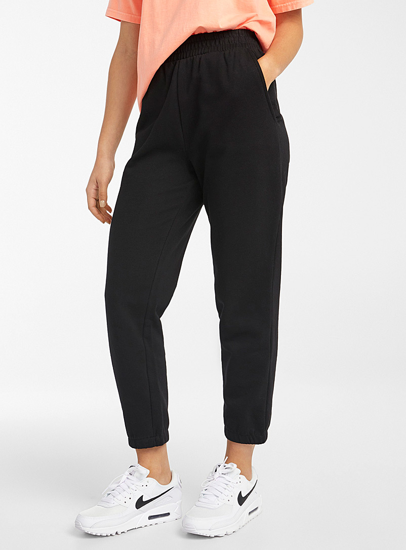 Twik Black Organic cotton loose sweatpant for women