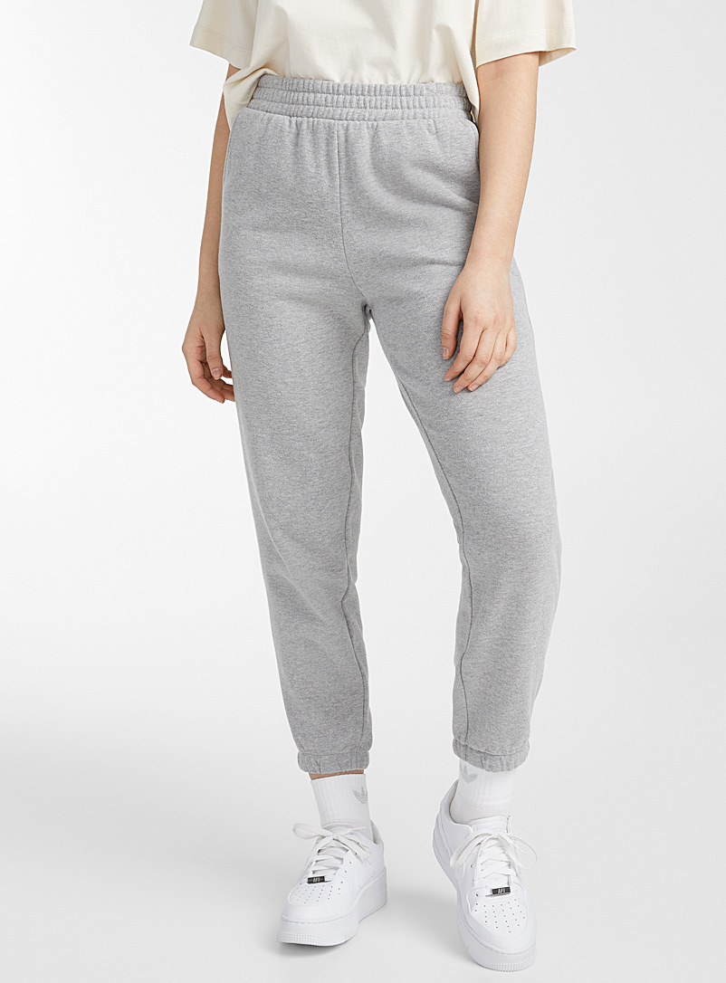 Twik Light Grey Loose sweatpant for women
