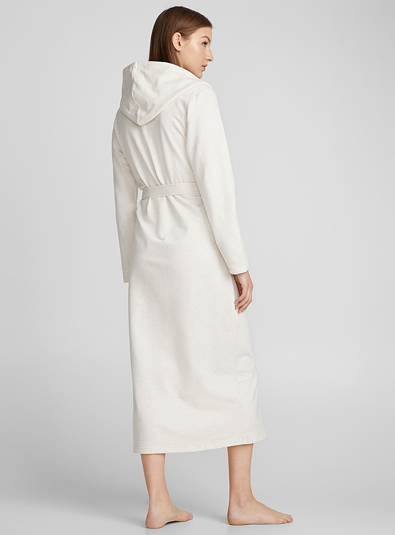 Long heather robe - Bathrobes - Cream Beige