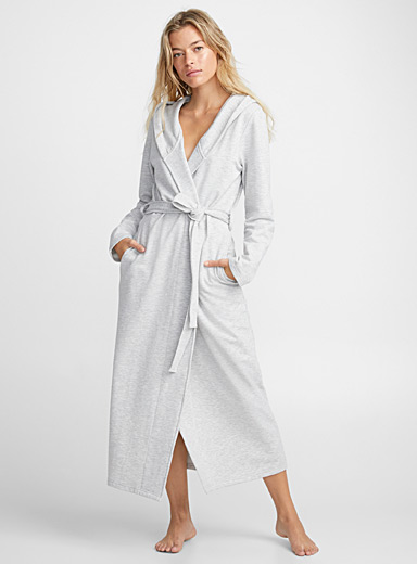Miiyu Silver Long heather robe for women