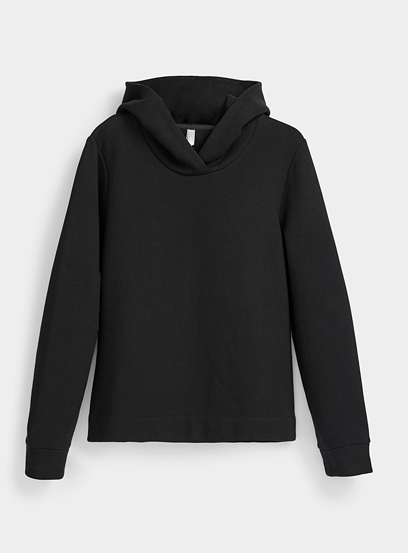 Miiyu Black Fleece-lined hoodie for women