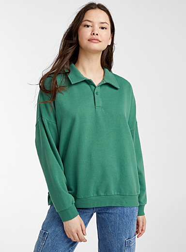 Loose polo sweatshirt