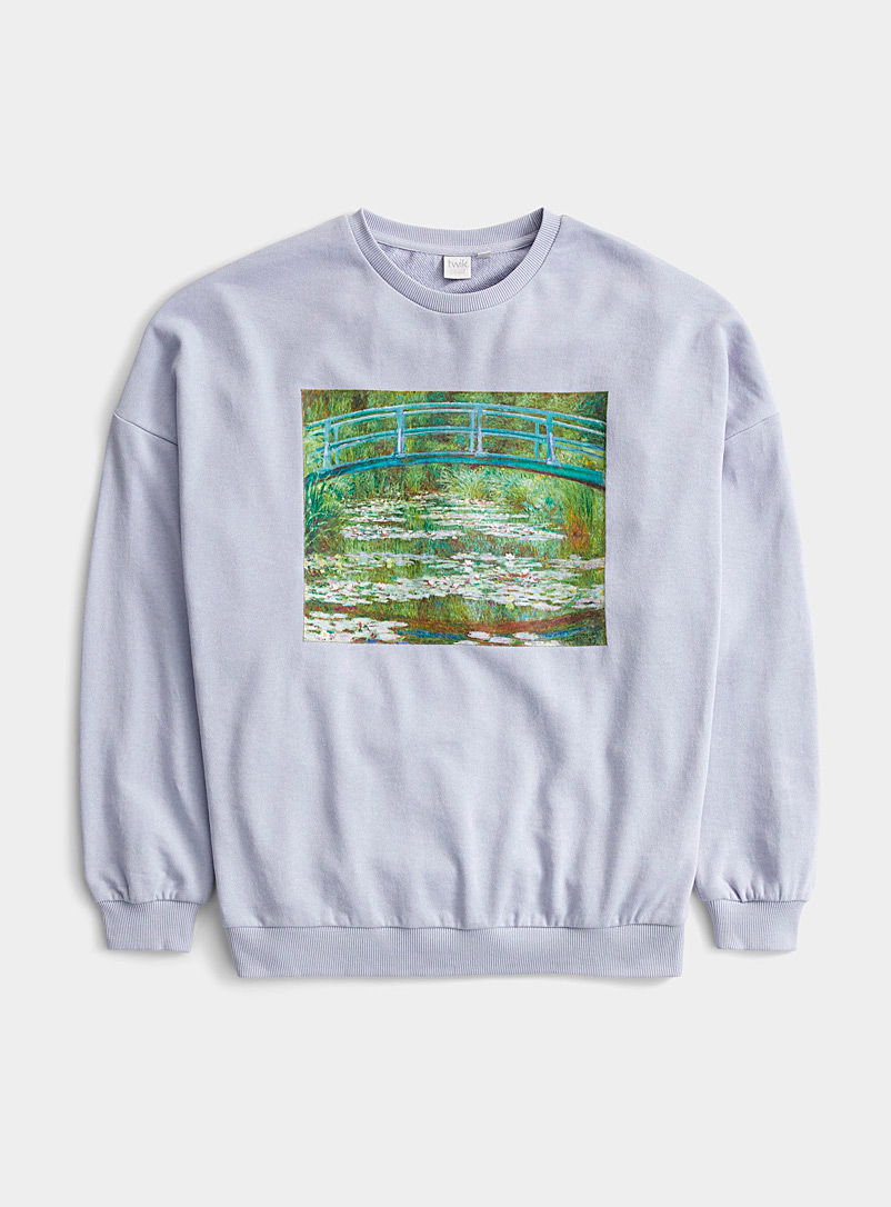 Twik Baby Blue Legendary art sweatshirt for women