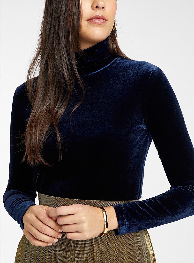 Rich velvet turtleneck