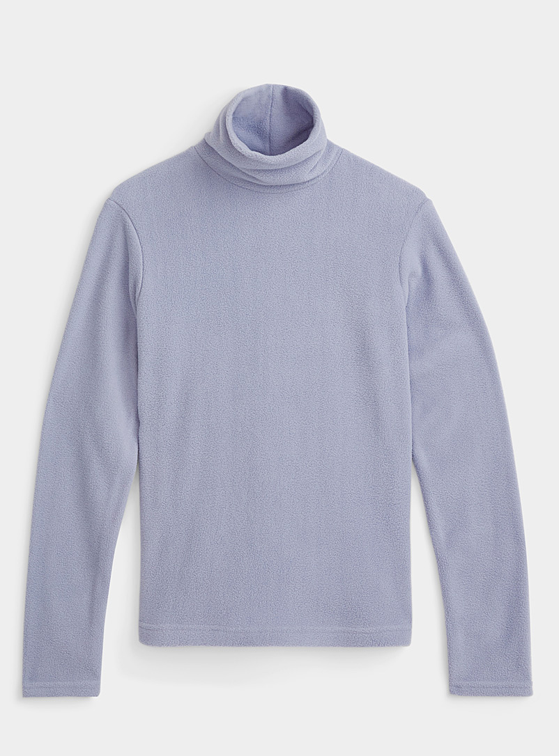 Recycled fleece mock neck