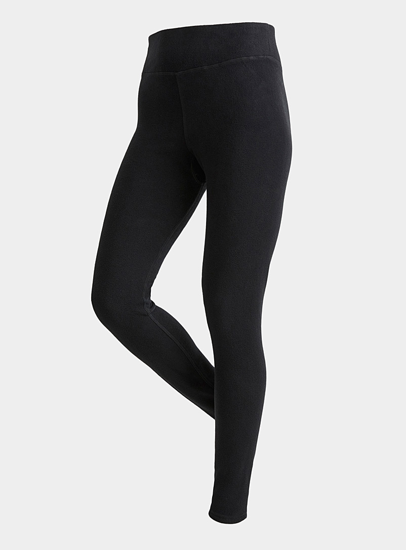 I.FIV5 Black Recycled fibre polar fleece high-rise legging for women