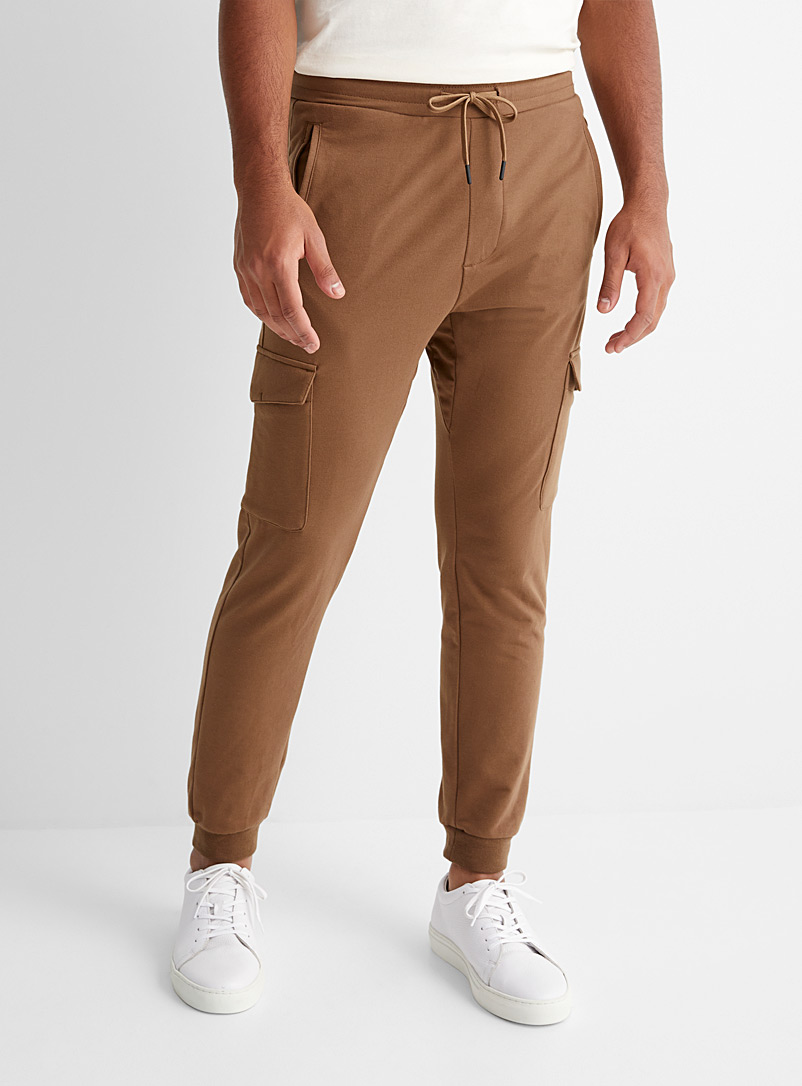 Structured jersey cargo joggers