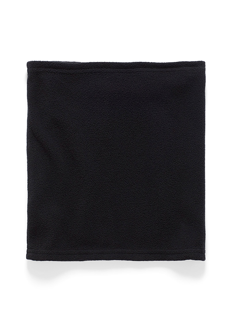 I.FIV5 Black Recycled polar fleece tube scarf for women