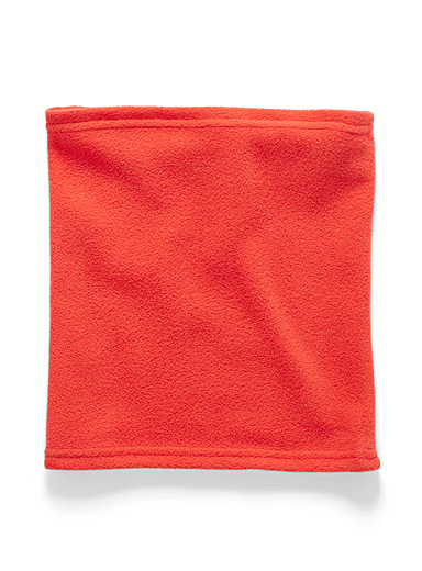 I.FIV5 Red Recycled polar fleece tube scarf for women
