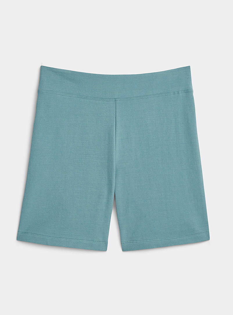 Miiyu Teal Organic cotton biker short for women