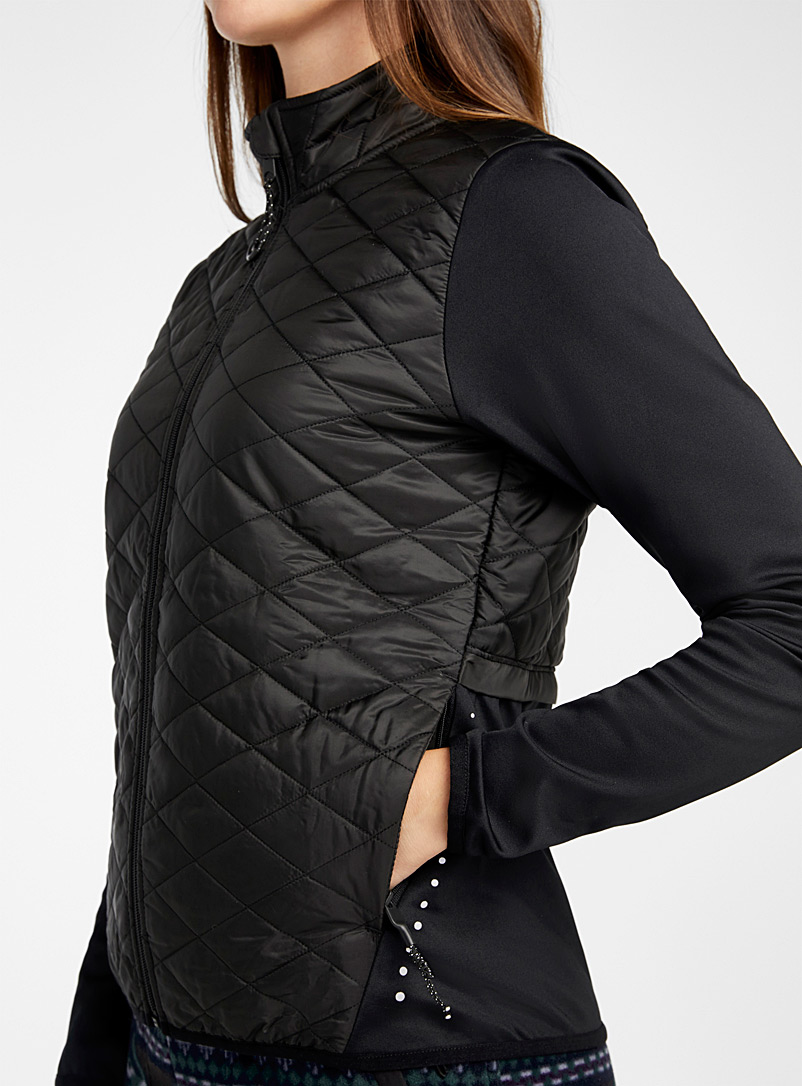 I.FIV5 Red Quilted bib jacket for women