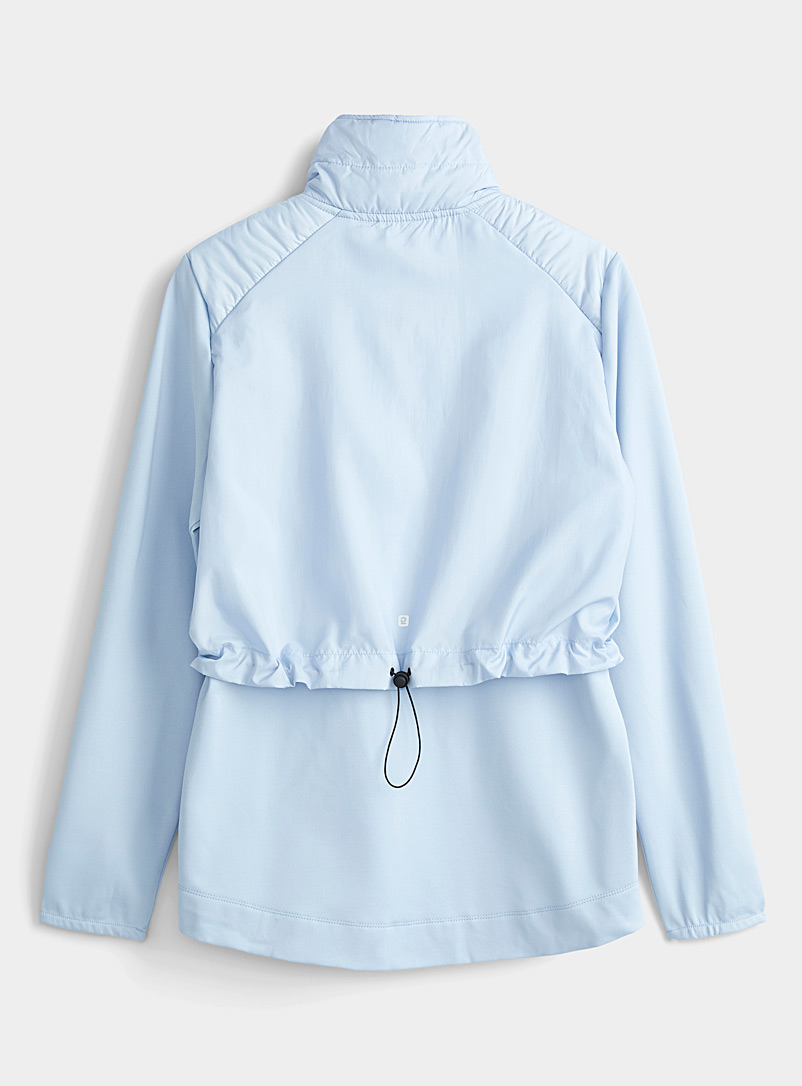 I.FIV5 Baby Blue Thermal microfibre quilted half-zip top for women