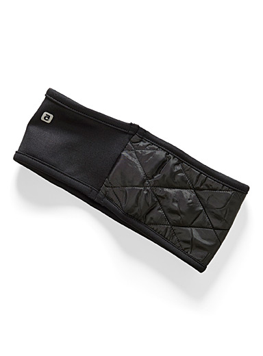 I.FIV5 Black Quilted headband for women