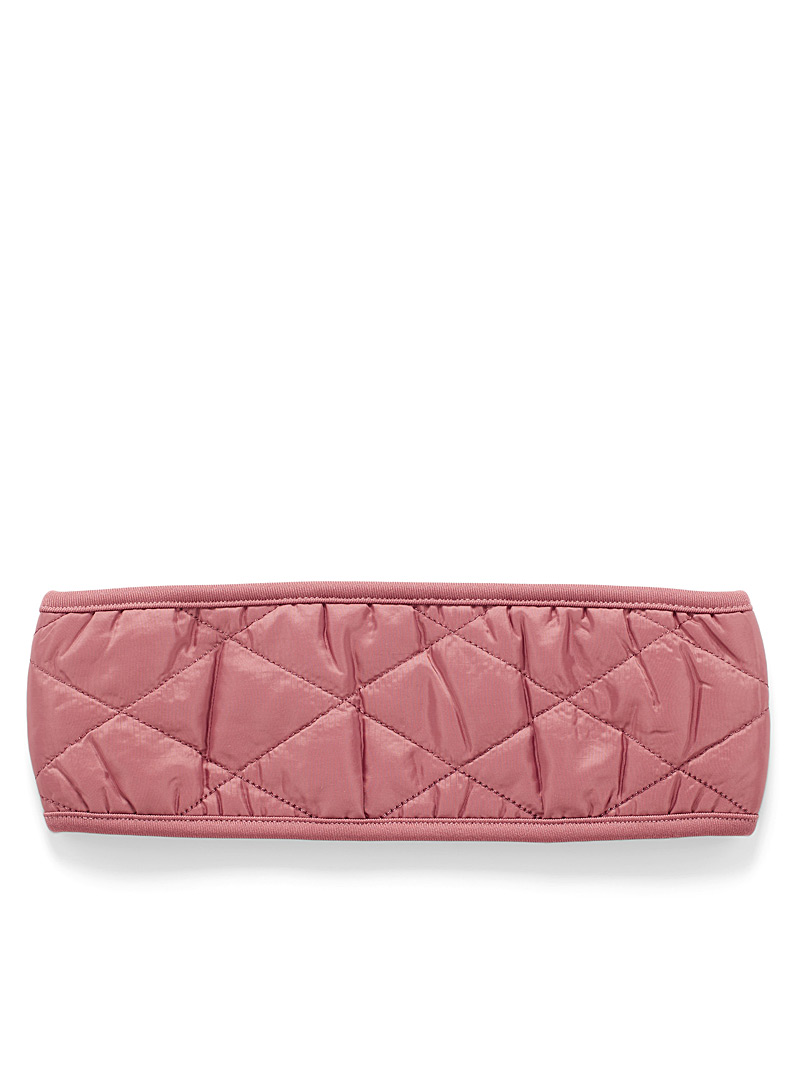 I.FIV5 Dusky Pink Quilted headband for women